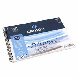 Альбом для акварели Canson Montval 270г/м 18*25см 12л склейка