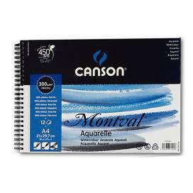 Альбом для акварели Canson Montval 300г/м 13,5*21см 12л спираль