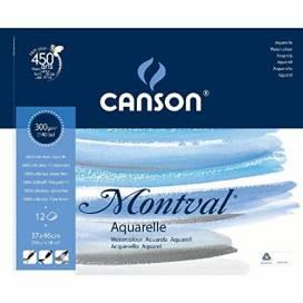 Альбом для акварелі Canson Montval 300г/м 37*46см 12 аркушів спіраль