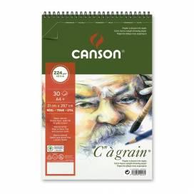 Альбом для эскизов Canson C a Grain 224г/м A4 30л спираль