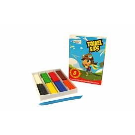 Пластилін для ліплення Gamma UA Travel Kids 8цв 96гр воскової 331009 / Tk