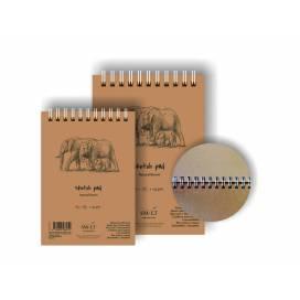 Альбом для ескізів Smiltainis Authentic 135г/м A4 80л коричневий папір ШК...6937