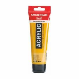 Краска акриловая для живописи и декора RT Amsterdam 120мл 270 AZO Желтый темный