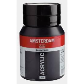 Краска акриловая для живописи и декора RT Amsterdam 500мл 702 Сажа газовая