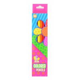Кольорові олівці для малювання 1вересня 6цв 290400 Happy colors