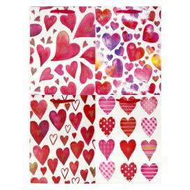 Кулёк подарочный Leader бумажный  32*26*10 (M)  460387 1102l чёрный с сердцем