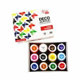 Набор акриловых красок для творчества Rosa Talent 12 цветов 20 мл глянцевые 90747258