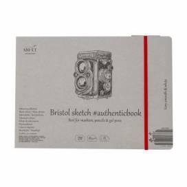 Альбом для ескізів Smiltainis Authentic 185г/м A5 18л Bristol білий гладкий папір