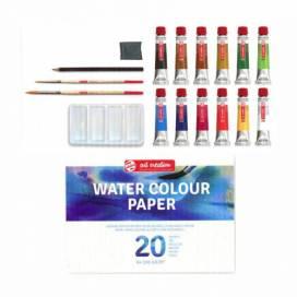 Набор акварельных красок Royal Talens Art Creation 12цв *12мл +палитра+2кисти+кар+ласт ШК....8746