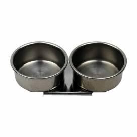 Маслёнка D.K.Art & Craft двойная металлическая с ободком (d:4см) 11002 ШК...0904