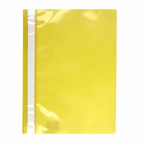 Скоросшиватель Axent А4 1317-26-A 50л пластик жёлтый