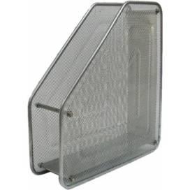 Лоток для паперу та документів металевий вертикальний Leader на 1 відділ 535490/535500 серебро/чорний