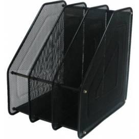 Лоток для бумаги и документов металлический вертикальный Leader на 3 отдела 535520 (535541) чёрн