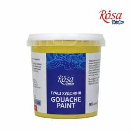 Фарба гуашева Rosa Studio 500мл Жовта світла
