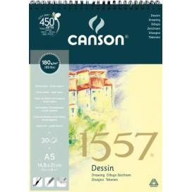 Альбом для эскизов Canson 1557 180г/м А5 30л спираль