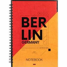 Блокнот Axent 8032-05 формат А5 клетка 96листов боковая спираль Berlin (записная книжка)