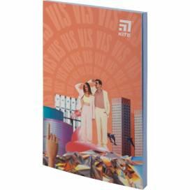 Блокнот Kite А5 64лістов VIS19-193-1 Время и Стекло мягк.обложка термобиндер кольорова блок (записна книжка)