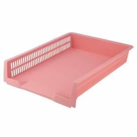 Лоток для паперу та документів пластиковий горизонтальний Axent на 1 відділ Pastelini 4040-10-A рожевий
