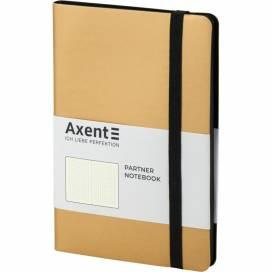 Блокнот Axent 8312-35 125*195мм 96листов точка Partner Soft золотой (записная книжка)