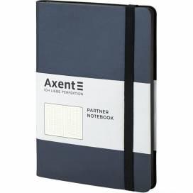 Блокнот Axent 8310-14 125*195мм 96листов точка Partner Soft серебристо-синий (записная книжка)