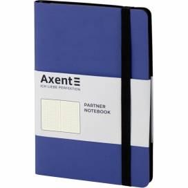 Блокнот Axent 8312-02 125*195мм 96листов точка Partner Soft темно-синяя (записная книжка)