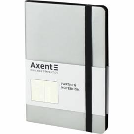 Блокнот Axent 8312-34 125*195мм 96л точка Partner Soft серебристый