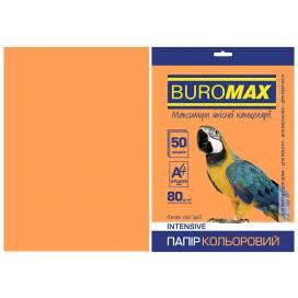 Бумага цв  А4/80 50л Buromax INTENSIVE BM.2721350-11  оранжевый