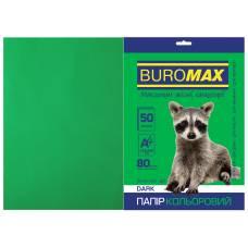 Бумага цв  А4/80 50л Buromax DARK BM.2721450-04  темно-зеленый