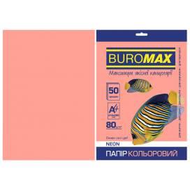Бумага цв  А4/80 50л Buromax NEON BM.2721550-10  розовая