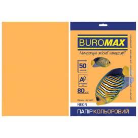 Бумага цв  А4/80 50л Buromax NEON BM.2721550-11  оранжевая