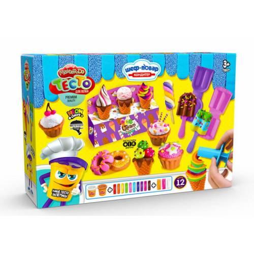 Набор для дет. творч. Danko Toys Тесто для лепки Master Do TMD-10-03 Шеф повар кондитер