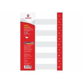 Разделитель страниц пластик. Optima O35811 1-10 раздел, цифровой