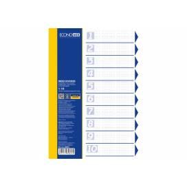 Разделитель страниц пластик. Economix E30803 10 разделов цветной