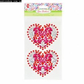 Аппликация для творчества Santi 742532 крист.«Hearts», 9.5*15 см.