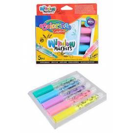 Маркеры для стекла Colorino Creative 39637PTR 5 цветов