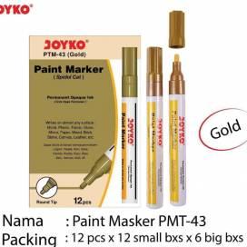 Маркер перм. лак Joyko PTM-43 краска золотой ШК..0754/0747