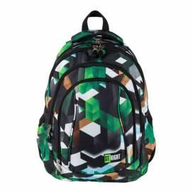 Рюкзак (ранец) школьный ST.RIGHT BP-04 GREEN 3D BLOCKS 626265