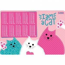 """Подложка на стол 1Вересня 491860 """"I am a cat"""" (табл.Умножения)"""
