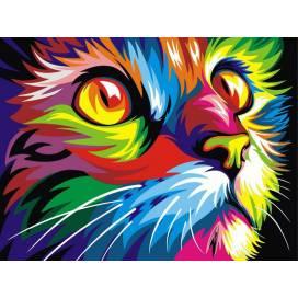 """Картина по номерам Turbo (Babylon) 30*40см VK 002 в подар. коробке Животные: """"Радужный кот"""""""