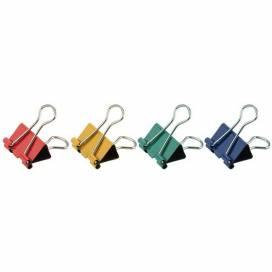 Биндер Axent 25мм 4410-A цветные в пласт. уп.