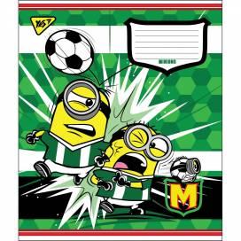 Зошит для школи 12арк. кольорова обкладинка лінія MINIONS GOAL 764500 від виробника YES Україна