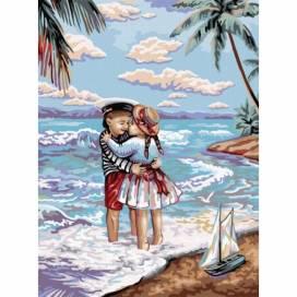 """Картина по номерам Danko Toys 30х40см без коробки KpNe-03-01 """"Морський пляж"""""""