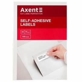 Бумага самоклейка А4 Axent 16шт на листе 105*37мм 2463-A