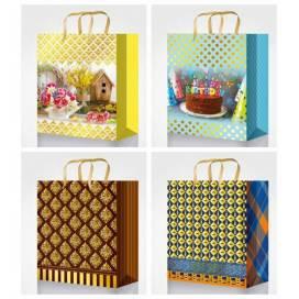 Пакет подарочный Fresh 18*23*10см 20151/52/53/54 картон, фольга