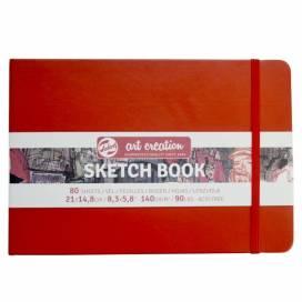 Блокнот Royal Talens Art Creation 14,8*21см 80листов 140г/м для графики красный (записная книжка)