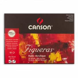 Бумага для акрила и масла Canson Figueras Bloc 290г/м2 24*33см 10л блок 0857-221