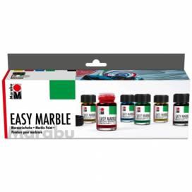 Набор фарб акрилових Marabu для марморирования 6 кольорів 15 мл