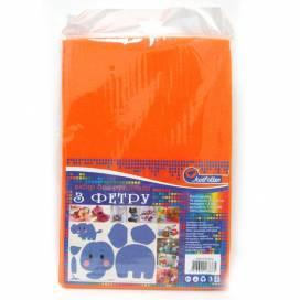 Фетр А4 Josef Otten HQ170-004 HARD 170GSM 1,2мм Оранжевый