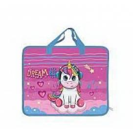 Портфель Одесса с ручками ткань 14001 Unicorn Dreams