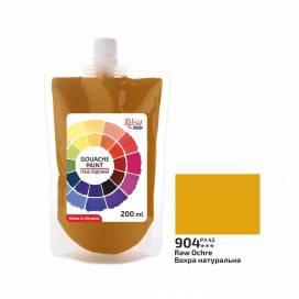 Гуашь Rosa Studio в мягкой упак 200мл Охра натуральная